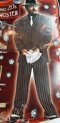 Gold Suit Halloween (Gangster Gold Roaring 20's Suit Mafia Mob Fancy Dress Halloween Adult)