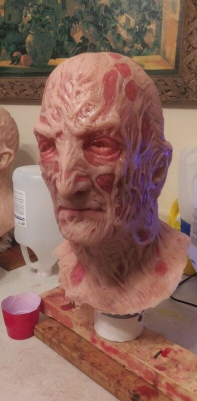 Airbrushed Silicone Freddy Krueger Mask Nightmare on Elm street Part 4 vibrant