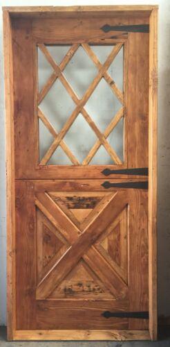 Rustic reclaimed solid lumber Dutch top door perfect wine room castle storybook