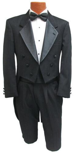 Mens Black Christian Dior Tuxedo Tailcoat Halloween Cosplay Gothic Victorian 40S