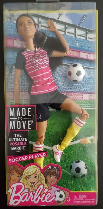 Barbie Made to Move AA Articulated Soccer Player Doll NEW