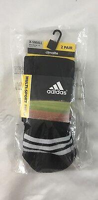 Adidas BOYS Climalite Multi-Sport Field Socks 1 Pack Black X
