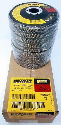 Box Of 10 Dewalt Dw8350 4-12 X 78 24-grit Hp Flap Discs
