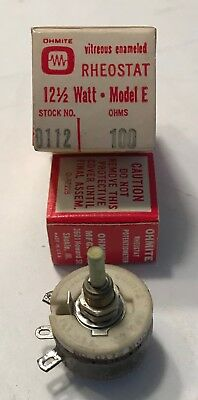 Ohmite 100 Ohm 12-12 Watt Rheostat Resistor- New In Box