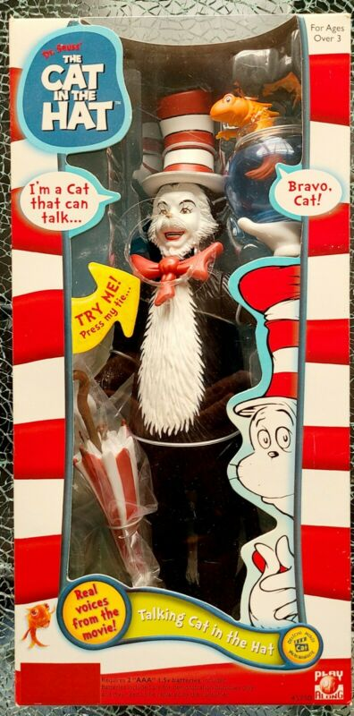 """TALKING THE CAT IN THE HAT 11"""" BRAND NEW"""