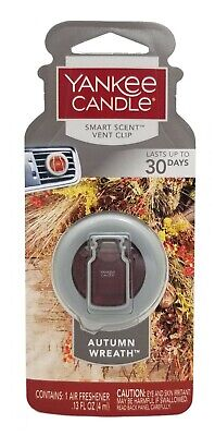 Yankee Candle Autumn Wreath Smart Scent Vent Clip Air Freshener / NEW
