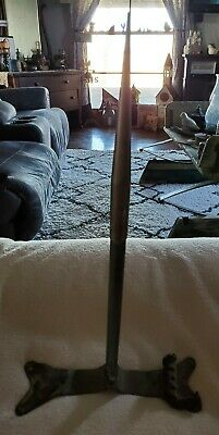 VINTAGE COPPER LIGHTENING ROD WITH MOUNTING BRACKET