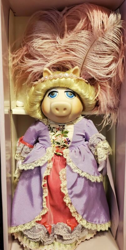Miss Piggy As Marie Antoinette Muppet Porcelain  Doll  one of 2500
