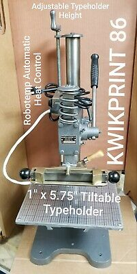 Hot Foil Stamping Machine Kwikprint 86 Fully Refurbished1x 5.75 Free Shipping