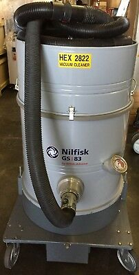 Nilfisk Gs83 Mode 017922-60 220v Industrial High Vol 69 Liter Vacuum Cleaner