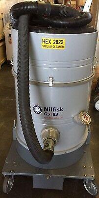Nilfisk Gs83 Mode 017922-60 220v Industrial High Vol 69 Liter Vacuum Cleaner