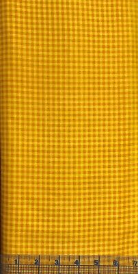 Springs Creative CP20587~Orange & Yellow Gingham~100% Cotton Quilt Fabric~Hallow