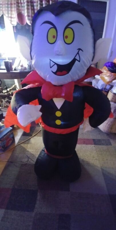 Halloween Dracula Air Blown Inflatable Electric Light 4 Foot
