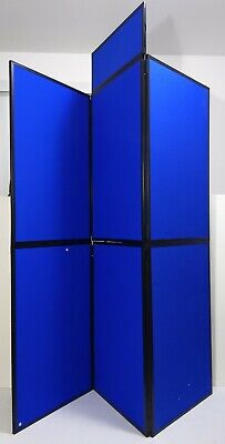 Nobo Showboard 67 Panel Folding Trade Show Presentation Display Stand Blue