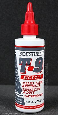 - Boeshield T9 4oz Drip Bottle Waterproof Bicycle Chain Lube /  Rust Inhibitor