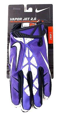 Nike Football Adult Vapor Jet 2.0 Magnigrip High Skill Glove Purple White XL