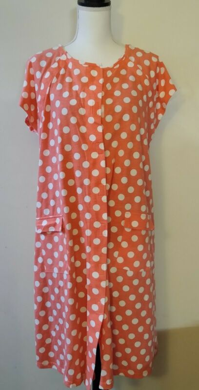 Kindred Bravely polka dot Nursing Nightgown ,snap off top comfort one size S-L