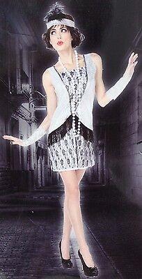 Silber & Schwarz Flapper Kostüm Damen Klein Halloween - Schwarzes Flapper Kleid Halloween Kostüme