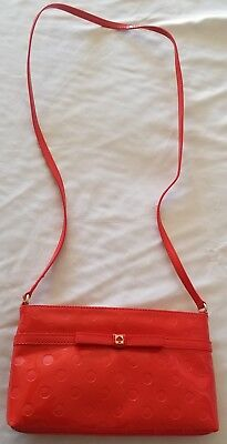 Kate Spade Amy Camellia Street Chili Red Crossbody Bag, Bow Front NWT
