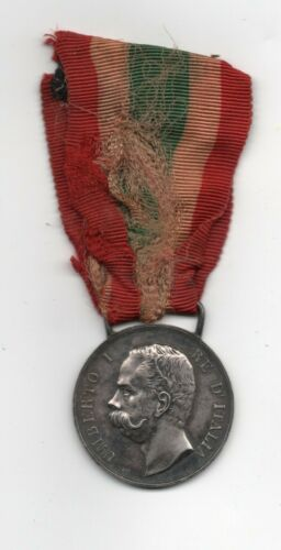 Italy Italia medal for Italian unification Silver 1883 Umberto I