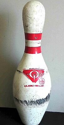 """""""Amflite Used Bowling Pin 15"""""""" Usbc Abc Approved Usa 3.5 Lbs Surface Wear Free Sh"""""""