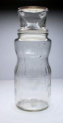 Vintage 1991 Planters Mr. Peanut 75th Birthday Glass Jar with Top Hat Lid