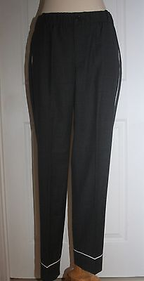 J.CREW TALL PARTY PJ PANT SIZE T4 HEATHER CARBON F9406