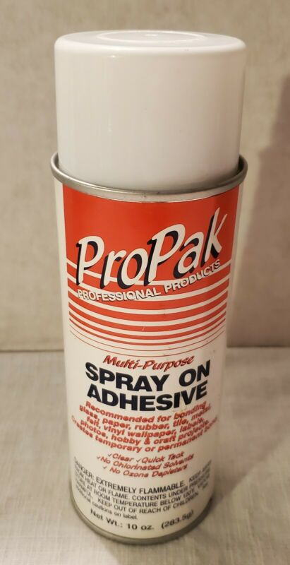 Vintage ProPak Professional Products Multi-Purpose Spray-On Adhesive New Nos