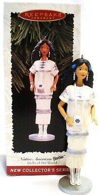 "Hallmark Keepsake 1996 Christmas ""Native American Barbie"" Ornament #1 in Series"
