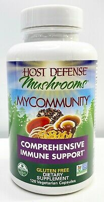 Host Defense My Community Immune Support Sealed Bottle 120 Capsules 08/2022+