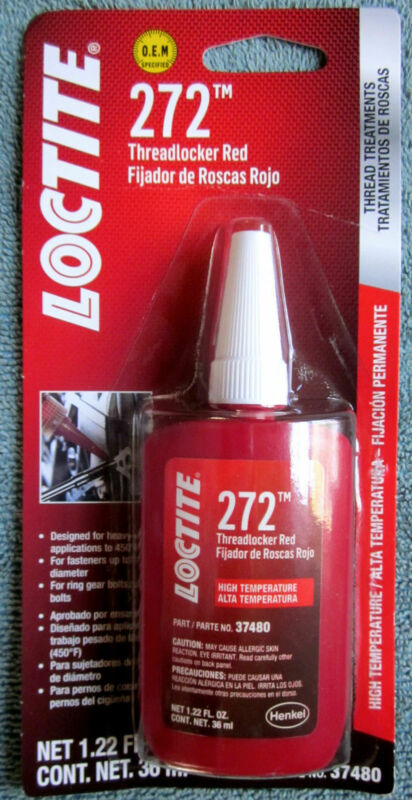LOCTITE 272 High Temp/Strength Threadlocker Red Thread Treatment - 1.22 fl. oz.