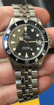 Tudor Vintage Submariner 75090 Saphire crystal 6249 Jubilee fliplock band 36MM