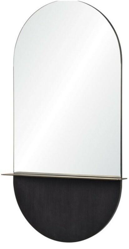 Renwil MT2131 Lisdarra 44X24 Inch Wall Mirror in Antique Brass and Black.