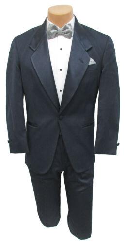 "Boys Size 14 Navy Blue Tuxedo with Pants Formal Wedding Ringbearer 27"" Waist"