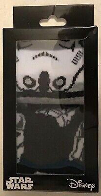 2 PAIRS Stormtrooper Socks Mens 6-12 STAR WARS EMPIRE JEDI FORCE new gift pack