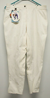 Ovation Euroweave DX Full Seat White Breeches - 32R