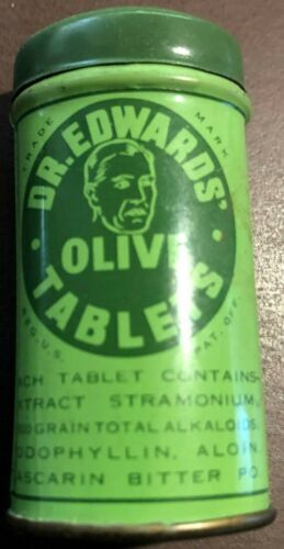 1930's Vintage DR. EDWARDS OLIVE TABLETS Tin - A Pleasant Laxative
