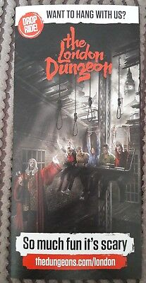 THE LONDON DUNGEON promotional Flyer - SCARY / Halloween / Horror