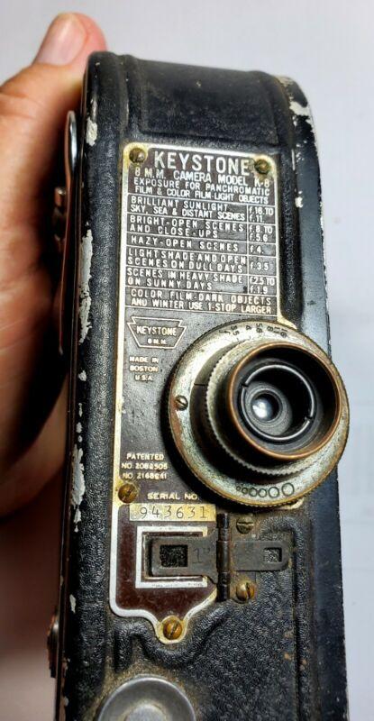 Vintage Keystone Model K-8 8mm Movie Camera Parts/Repair/Display