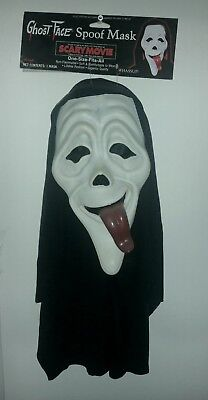 Scary Movie~Scream Ghostface Whassup! Mask~Black/White~NWT Extremely Rare