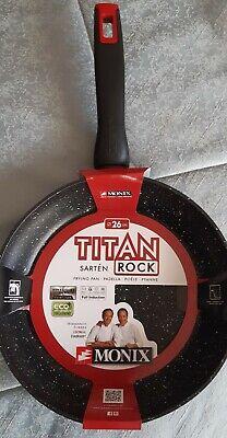 Sartén Monix Titan Rock 26cm Aluminio Forjado Espesor Base 4mm