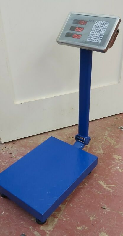 330 LB Digital Weight Shipping Platform Postal floor Scale Blue LCD screen