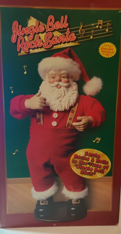 Dancing Jingle Bell Rock Santa Claus Animated Musical Vintage 1998 with Box