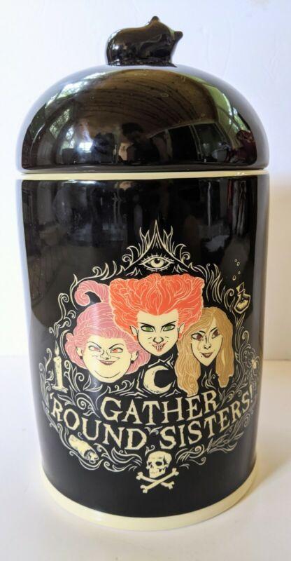 Disney's Hocus Pocus Cookie Jar Halloween Sanderson Sisters Ceramic Broom Squad