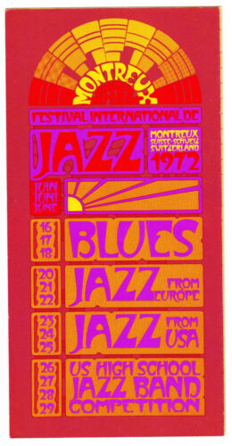 Montreux Jazz Festival 1972 Programme & Price List Chuck Berry Muddy Waters