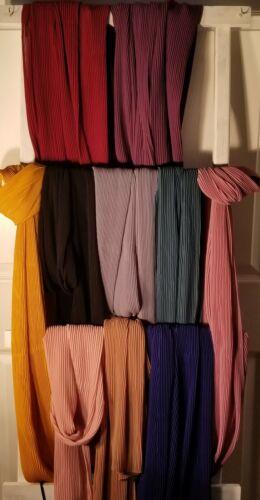 Chiffon Plain Pleated Shawl, Head wrap scarf,Shawls, Hijab
