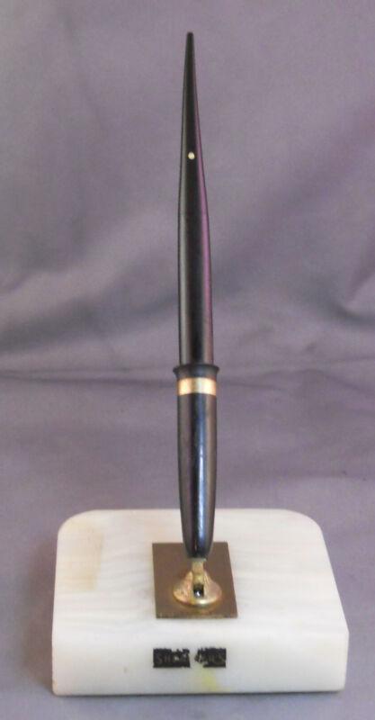 Sheaffer White Onyx  Touchdown  Desk Set -restored---medium point