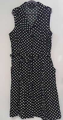 I Love Lucy Polka Dot Dress Ladies Medium 50's Hot Rod PIN UP retro Costume - 50s Pin Up Costume
