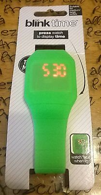 Blink Time Watch Colourful Touch Operated LED Digital Silicone Watches