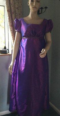 Regency Dress, Jane Austen, Taffeta, Size 16, Free P&P